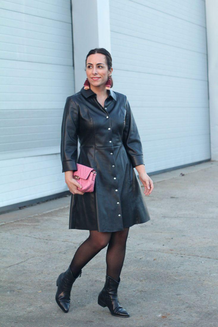 street-style-leather-dress-como-combinar-tu-vestido-de-piel